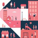 Детство - плоская иллюстрация стиля дизайна бесплатная иллюстрация