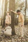 3 дет в парке Стоковая Фотография RF