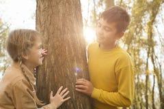 2 дет в парке Стоковое Фото