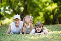 3 дет в парке Стоковая Фотография