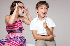 2 дет имея потеху совместно Стоковое Изображение RF