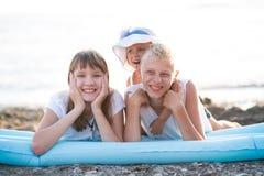 3 дет на пляже Стоковое Изображение RF