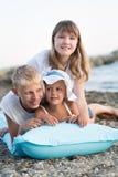 3 дет на пляже Стоковая Фотография RF