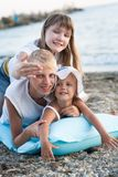 3 дет на пляже Стоковые Изображения RF