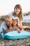 3 дет на пляже Стоковые Фото