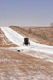 дефектная дорога снежная стоковое изображение rf