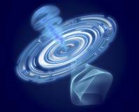 Деформация времени - замедление времени Квантовая механика встречает общее relat иллюстрация вектора
