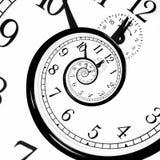 Деформация времени - замедление времени иллюстрация вектора