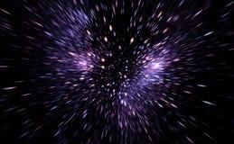 Деформация времени, путешествуя в космосе Замедление времени иллюстрация штока