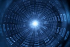 Деформация времени, путешествуя в космосе Путешествовать SpaceTime Стоковые Изображения RF