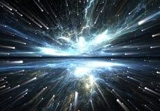 Деформация времени, путешествуя в космосе Стоковое фото RF