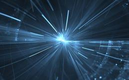 Деформация времени, путешествуя в космосе иллюстрация вектора