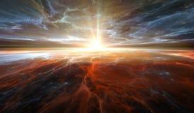 Деформация времени, путешествуя в космосе Стоковые Фото