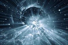 Деформация времени, путешествуя в космосе Стоковое Изображение