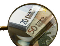 Дешев-Деньг-Евро-европейская валюта Стоковая Фотография RF