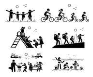 Деятельности при семьи внешние рекреационные Стоковое Изображение