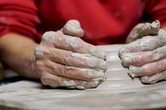 деятельность горшечника глины Стоковые Изображения RF