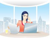 деятельность женщины офиса дела Стоковые Изображения