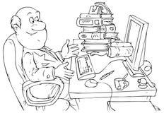 деятельность интернет-обслуживания bookkeeper Иллюстрация вектора