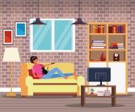 Деятельность и свободное время дома иллюстрация вектора