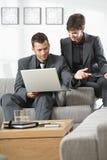 деятельность компьютера предпринимателей Стоковая Фотография