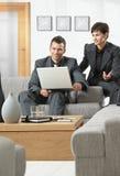 деятельность компьютера предпринимателей Стоковая Фотография RF