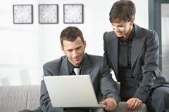деятельность компьютера предпринимателей Стоковые Изображения