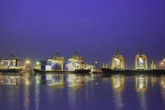 Деятельность контейнера в серии порта Стоковые Изображения RF