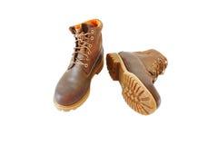 деятельность коричневого цвета ботинок Стоковое Изображение RF