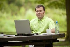 деятельность офиса зеленого человека открытая Стоковое Изображение RF