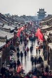 Деятельность при улицы Pingyao стоковые изображения