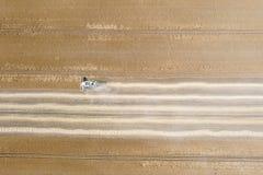 деятельность пшеницы жатки поля зернокомбайна Жатка зернокомбайна Ae Стоковая Фотография