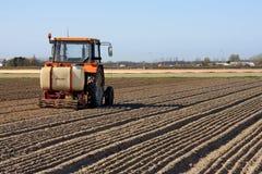 деятельность трактора поля Стоковая Фотография