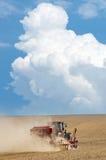 деятельность трактора поля Стоковое Изображение