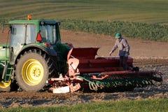 деятельность трактора поля Стоковые Изображения