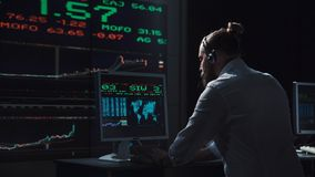 Деятельность человека как финансовый торговец Стоковые Фото