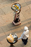 деятельность varanasi людей 2 ghat benares Стоковое фото RF