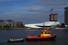 Деятельности при гавани Амстердама и национальный музей фильма Нидерландов Стоковые Изображения RF