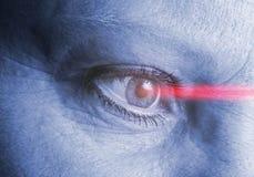 Деятельность лазера глаза Стоковые Фото