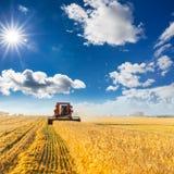 Деятельность жатки зернокомбайна Стоковое Изображение RF