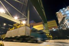 Деятельность контейнера в порте Стоковое Фото