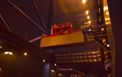 Деятельность контейнера в порте Стоковая Фотография