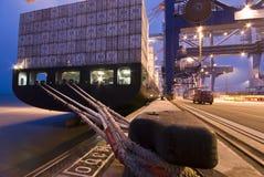 Деятельность контейнера в порте стоковое фото rf