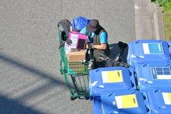Деятельность при бездомного человека стоковое фото rf