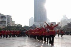 Деятельность при вспышки пропаганды энтузиастов воздушного фотографирования риса закусок Mianyang известная Стоковая Фотография RF