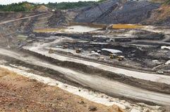 Деятельность при добычи угля открытого карьера Стоковое Изображение RF
