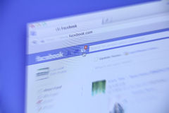 Деятельность при Facebook новая Стоковые Фото