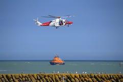 Деятельность спасательной службы береговой охраны Великобритании Стоковое фото RF