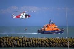Деятельность спасательной службы Великобритания береговой охраны Стоковые Изображения RF
