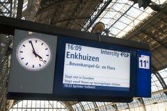 Делает любое знайте в котором часу поезд идет Стоковое Изображение RF